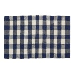 Dii Navy Cream Buffalo Check Rag Rug Walmart Com