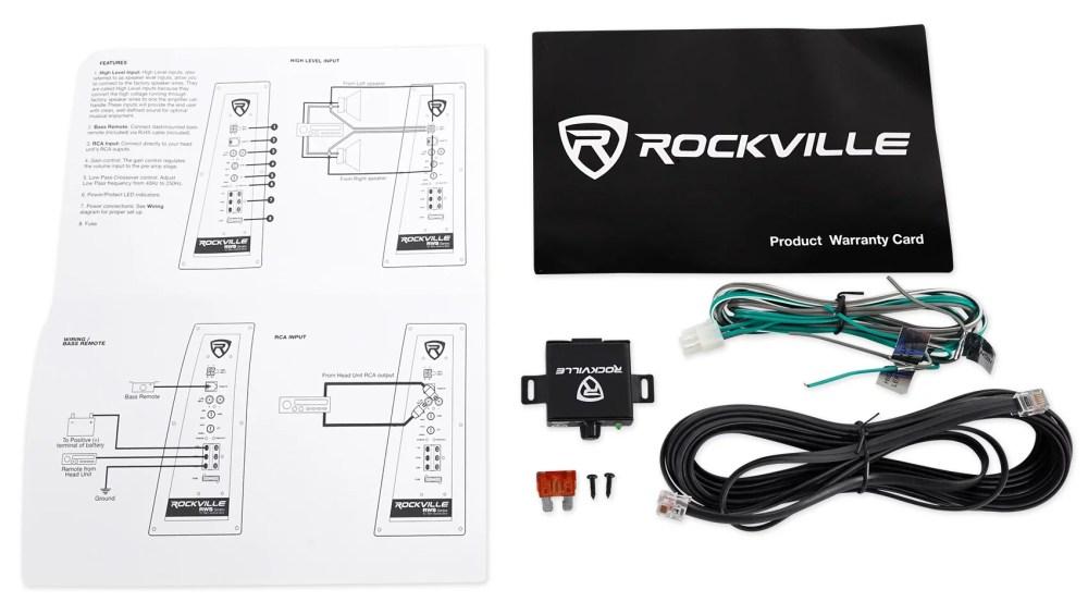 medium resolution of rockville rws12ca slim 1200 watt 12 powered car subwoofer enclosure wire kit walmart