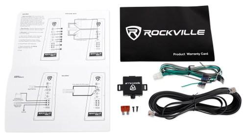 small resolution of rockville rws12ca slim 1200 watt 12 powered car subwoofer enclosure wire kit walmart