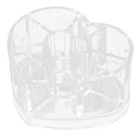 Acrylic 8 Slots Heart Shape Lipstick Holder Jewelry Box ...