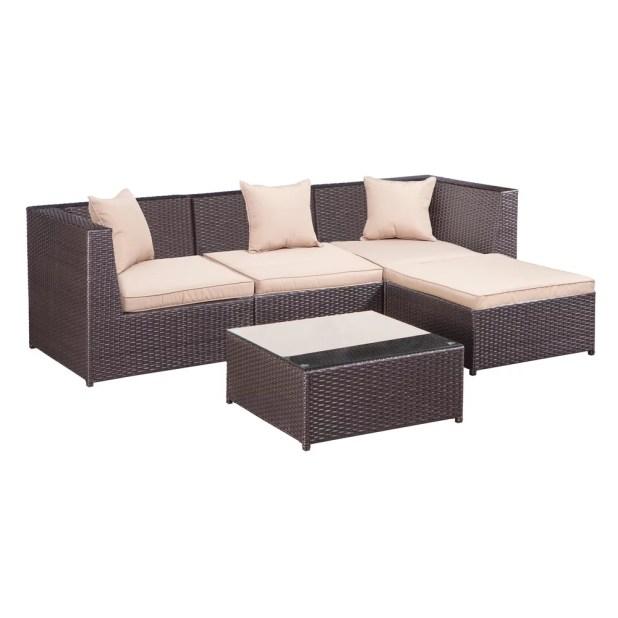 Cane Sofa In Pune: Garden Sofa Set With Storage