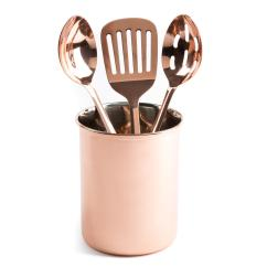Copper Kitchen Utensil Holder Compost Pots For Thyme And Table 4 Piece