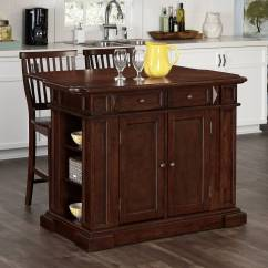 Cherry Kitchen Island Islands Cheap Home Styles Americana And 2 Stools Walmart Com