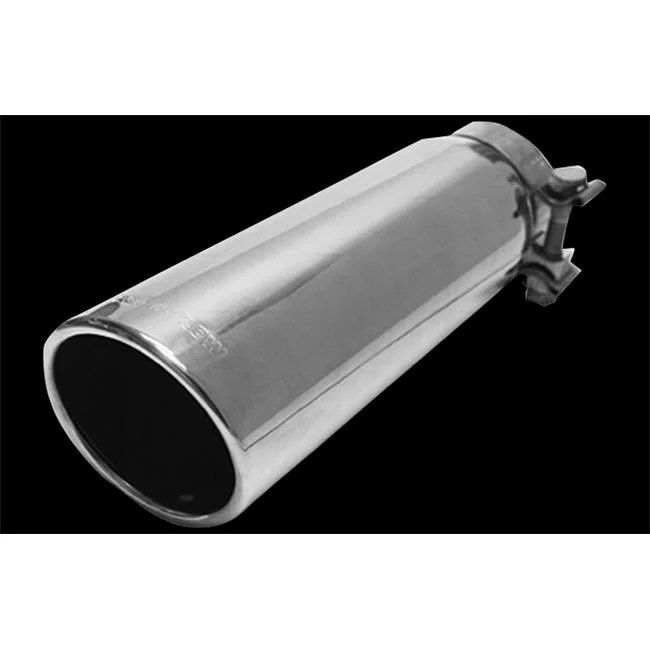 magnaflow performance 35209 exhaust tail pipe tip 2 3 4 inch inside diameter inlet 3 1 2 inch outlet stainless steel round 15 degree angled cut