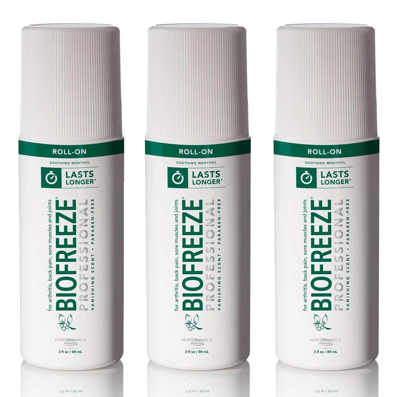 Biofreeze Biofreeze Professional 3oz Roll-On 3PK Pain ...