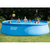 """Intex 18' x 48"""" Easy Set Above Ground Swimming Pool with ..."""