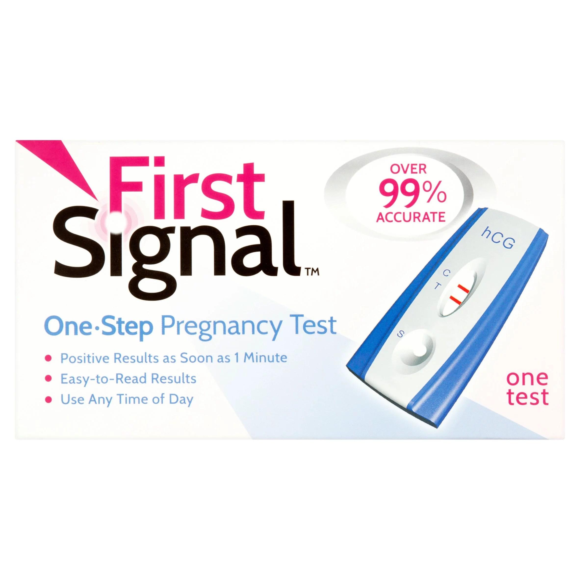 First signal one step pregnancy test also walmart rh