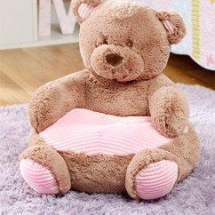 Stuffed Animal Chair Most Relaxing Kids Plush Chairs Pink Bear Walmart Com