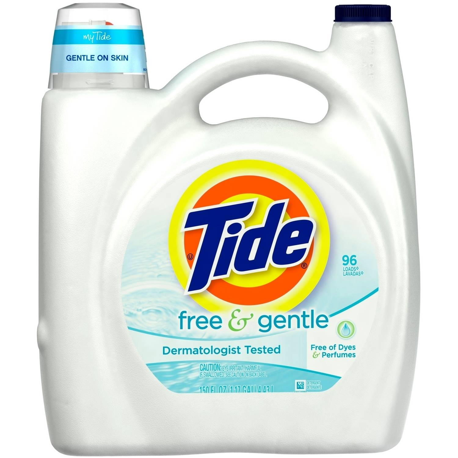 Tide Free and Gentle Liquid Laundry Detergent 96 Loads