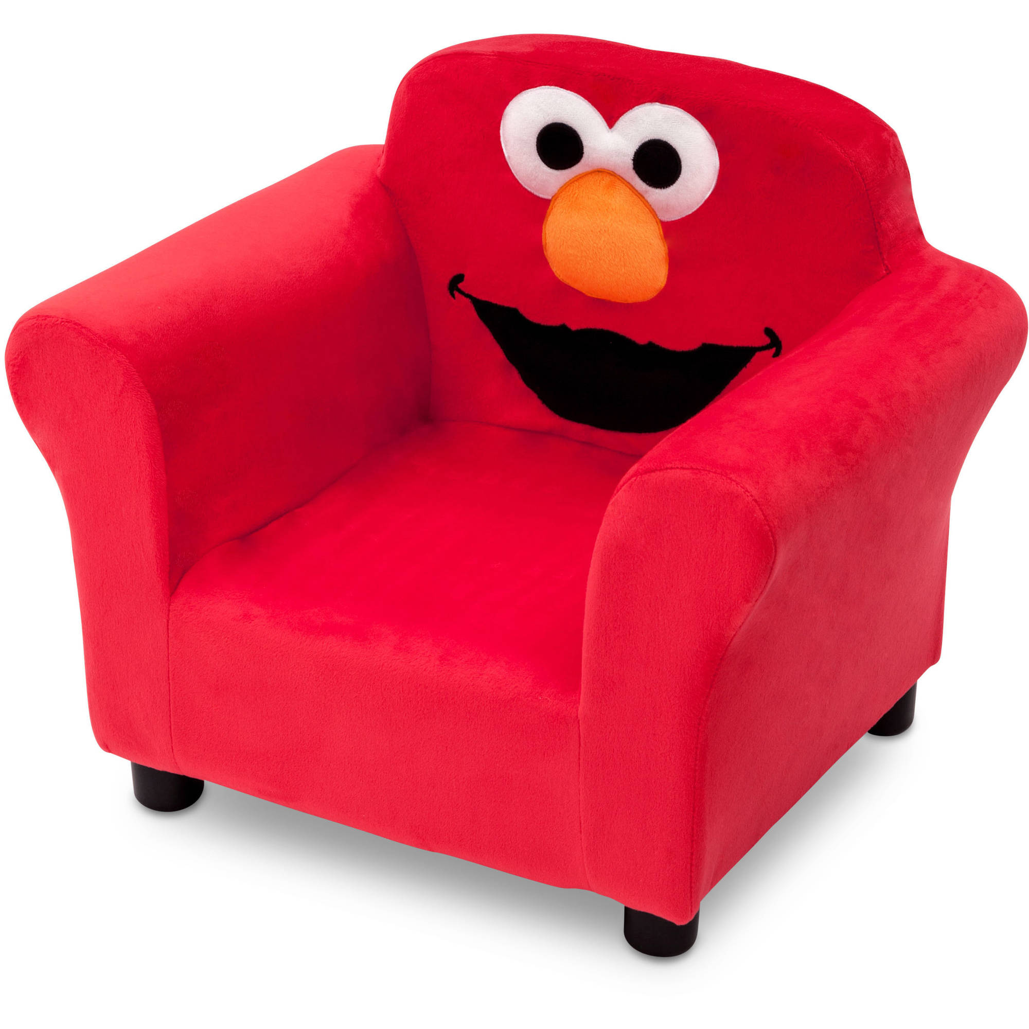 plush padded moon saucer chair in red covers and more houston new delta children 39s sesame street upholstered