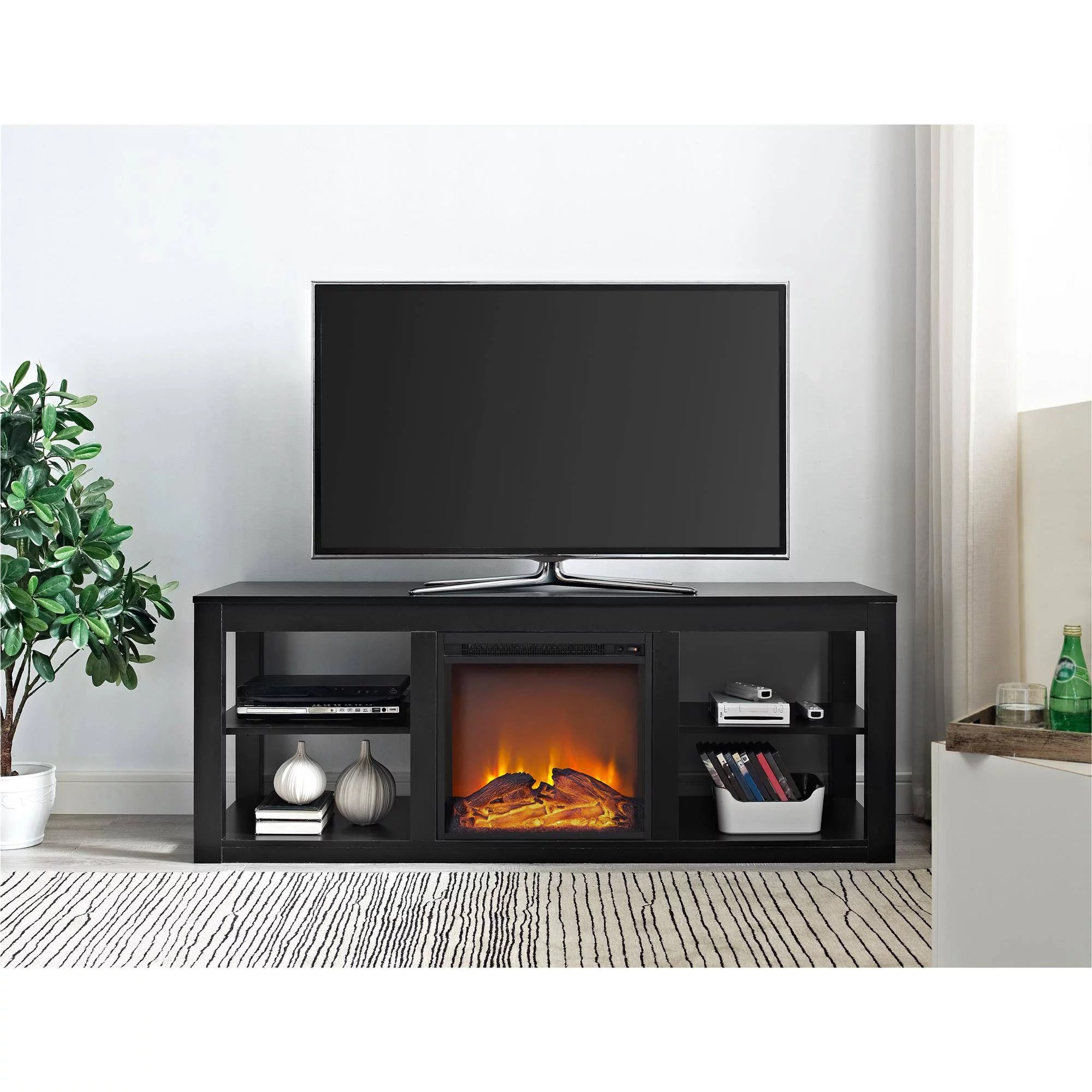 Ameriwood Home Parsons Electric Fireplace TV Stand for TVs
