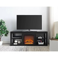 Ameriwood Home Parsons Electric Fireplace TV Stand for TVs ...