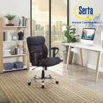 Details About Serta Mesh Fabric Big And Tall Manager Seat Office Desk Chair Heavy Duty Black