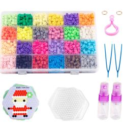 non ironing fuse bead kit water glued beads 24 colors water sticky beads with 10 patterns 4 pegboards magical water beads for kids walmart com [ 1200 x 1200 Pixel ]