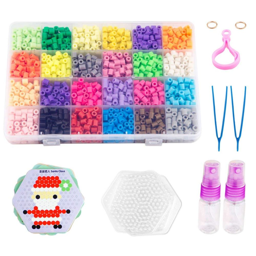 medium resolution of non ironing fuse bead kit water glued beads 24 colors water sticky beads with 10 patterns 4 pegboards magical water beads for kids walmart com