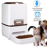 6l Automatic Programmable Portion Control Voice Recording Pet Feeder With Timer Infrared Sensor Food Dispenser Station For Small Medium Large Dogs Cats Up To 4 Meals A Day Walmart Com Walmart Com