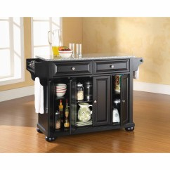 Crosley Kitchen Island Outside Furniture Alexandria Solid Granite Top Walmart Com