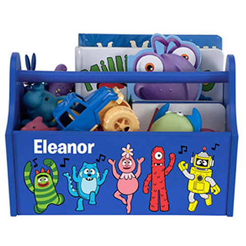 Personalized Yo Gabba Gabba Music Notes Blue Toy Caddy