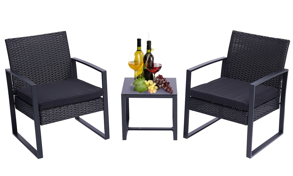 3 piece wicker patio set segmart outdoor patio furniture set with table outdoor bistro set with cushions outside furniture small patio furniture
