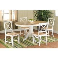Farmhouse Dining Table, White/Natural - Walmart.com