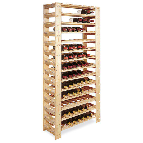 swedish 126 bottle wood wine rack