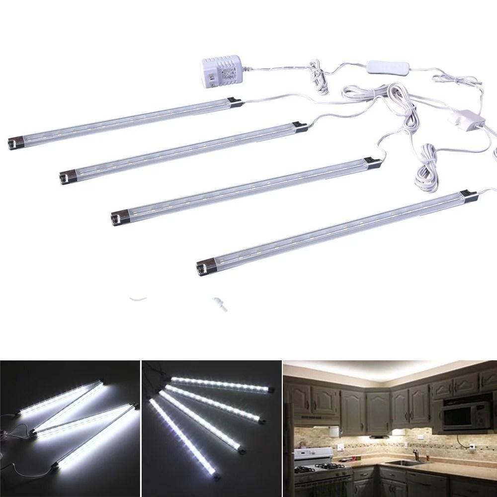 Cefrank Set Of 4 LED Light Bar Cool White Under Kitchen Cabinet