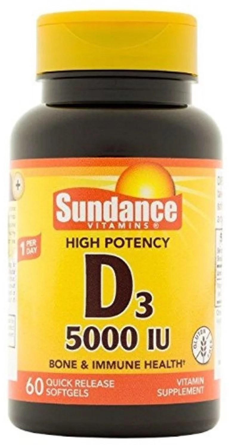 Sundance Vitamin D3 Tablets. 5000 IU. 60 Count - Walmart.com