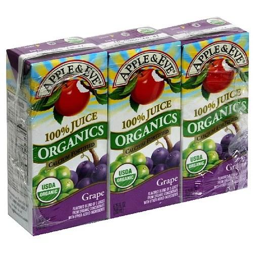 Apple Eve Organic Juice Grape 675 Oz 3 Count Pack