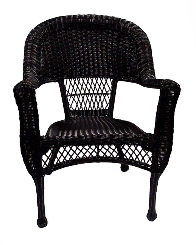 37 Black Resin Wicker Patio Dining Arm Chair  Walmartcom