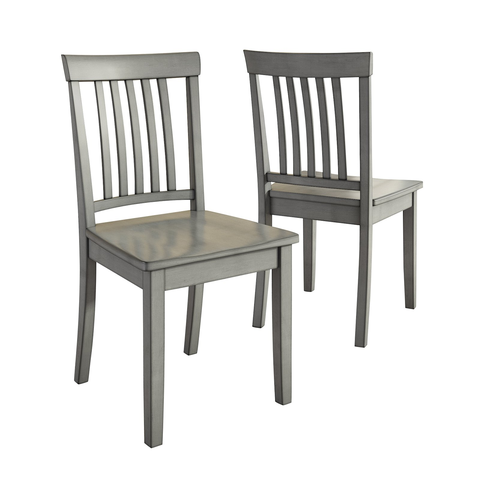 gray dining chair outdoor with side table kitchen chairs furniture walmart com product image lexington mission back set of 2 multiple colors