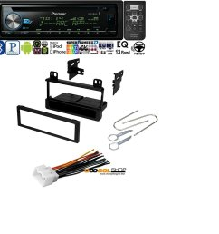 car stereo radio kit dash installation mounting kit wiring harness removal tools with pioneer deh x6900bt vehicle cd digital music player receivers black [ 1480 x 1500 Pixel ]