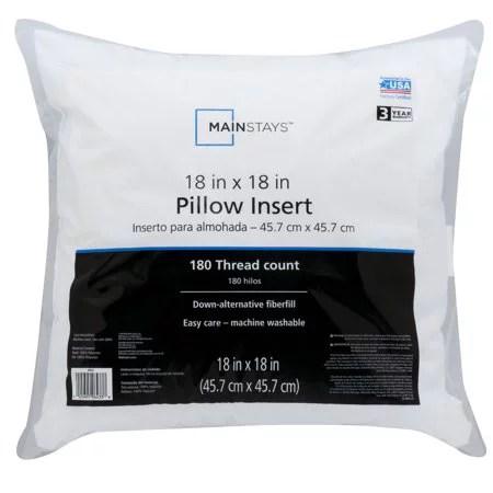 set of 2 20 x 20 premium hypoallergenic stuffer pillow insert square white