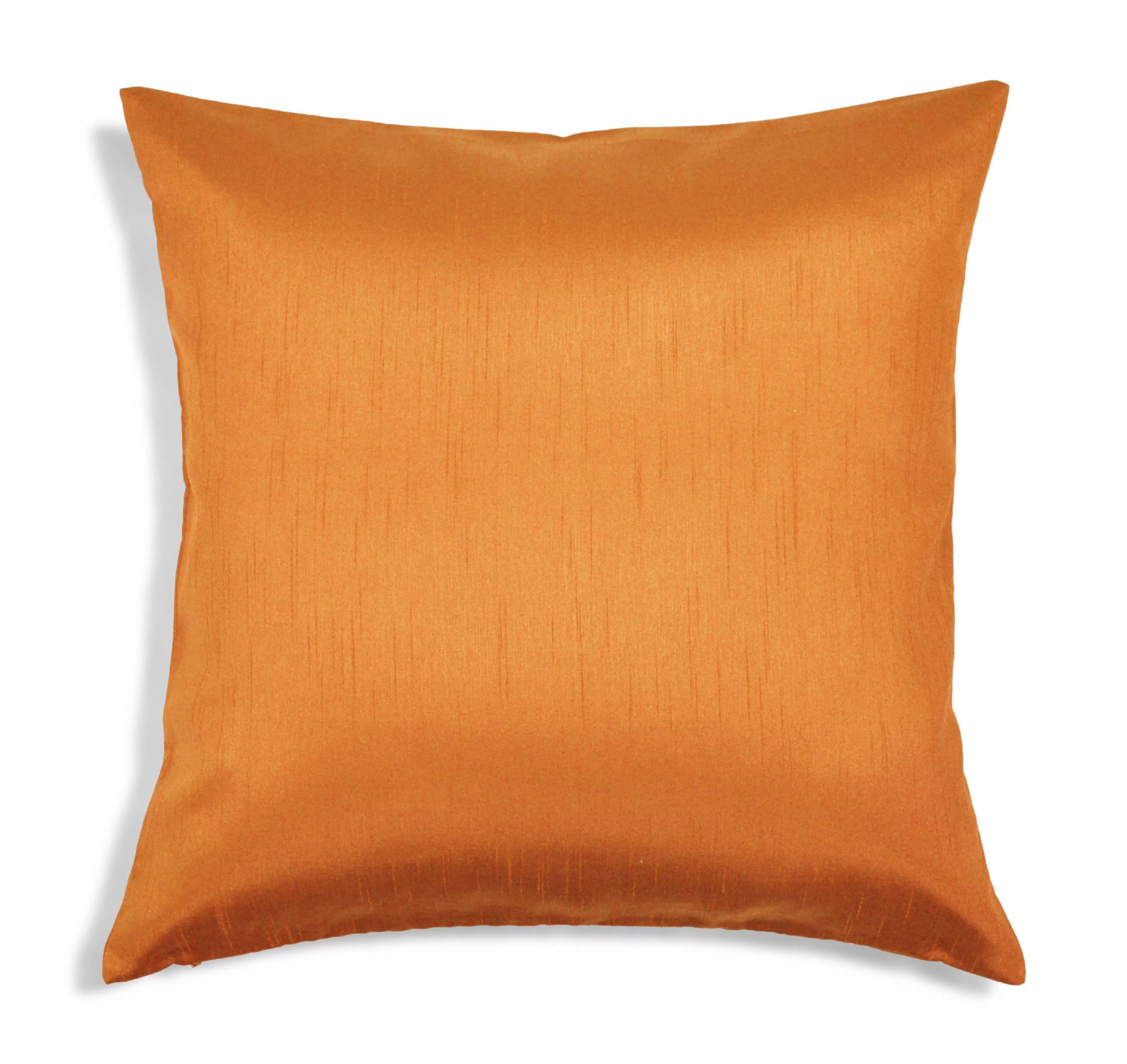 aiking home solid faux silk euro sham pillow cover 26 by 26 orange walmart com