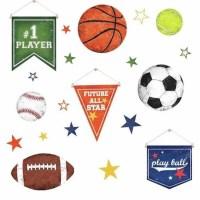 Sports Balls Peel And Stick Wall Decals - Walmart.com