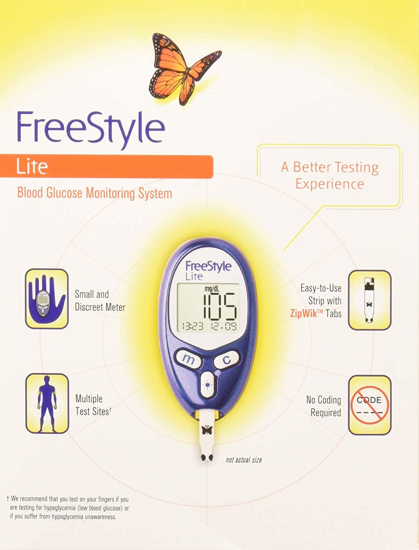 Freestyle Lite Test Strips Walgreens : freestyle, strips, walgreens, FreeStyle, Blood, Glucose, Monitor, Walmart.com