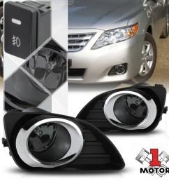 smoked lens fog light bumper lamps w switch harness bezel for 10 11 toyota camry walmart com [ 1000 x 1000 Pixel ]