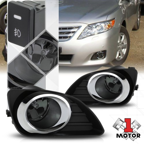 small resolution of smoked lens fog light bumper lamps w switch harness bezel for 10 11 toyota camry walmart com