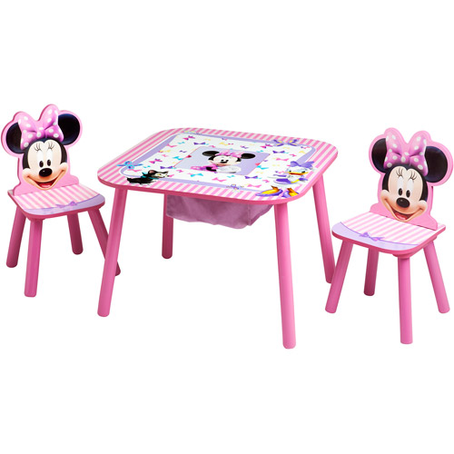 walmart plastic chairs hanging hammock chair from tree disney minnie mouse storage table and set - walmart.com