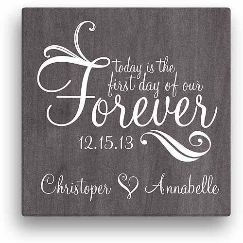 forever personalized canvas wall