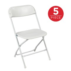 Portable Folding Chairs Massage Chair Parts Suppliers Best Choice Products Set Of 5 Indoor Outdoor Stackable Lightweight Plastic For Events Parties White Walmart Com