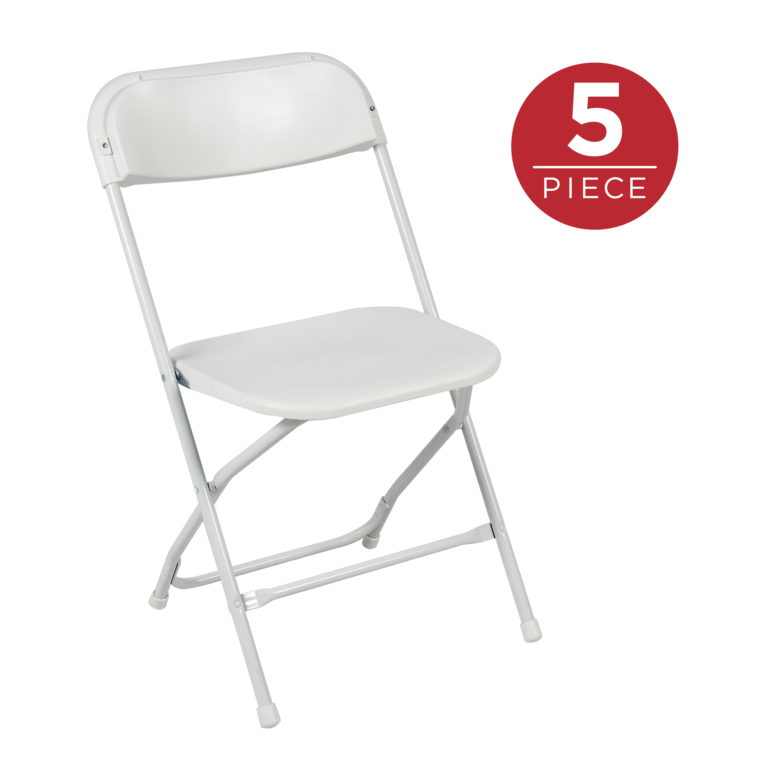 portable folding chairs with storage in seat best choice products set of 5 indoor outdoor stackable lightweight plastic for events parties white walmart com