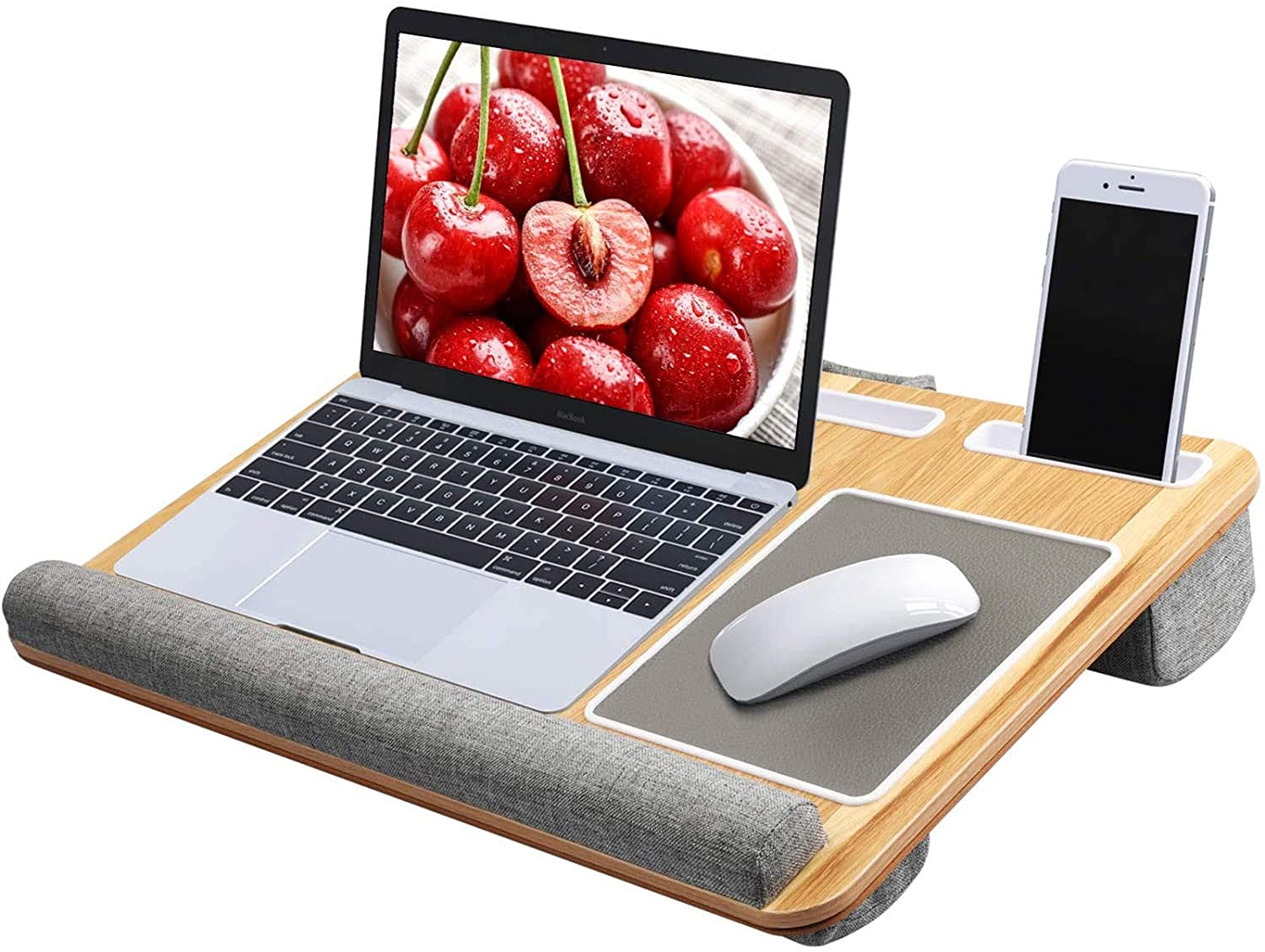 pipishell lap desk pillow laptop desk with cushion fits up to 17 in notebook macbook tablet walmart com