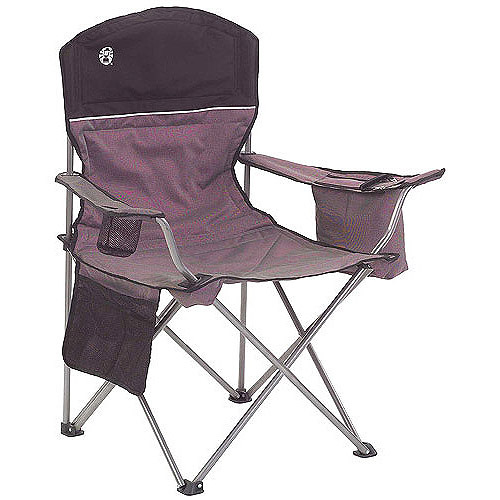 coleman oversized quad chair with cooler pouch blue rocking portable camping 4-can - walmart.com