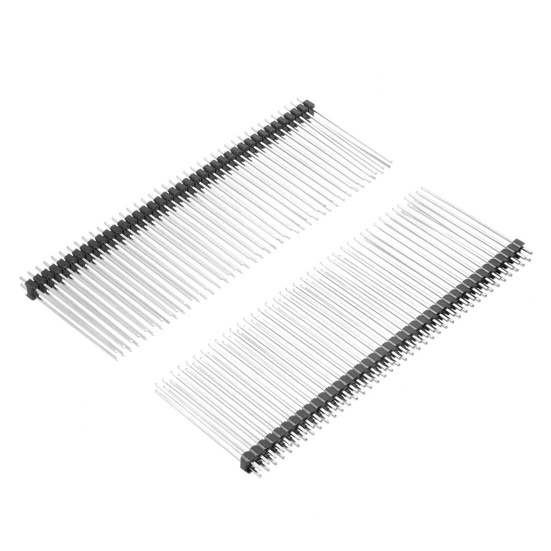 5pcs 2 54mm Pitch 40 Pin 40mm Length 2 Row Straight