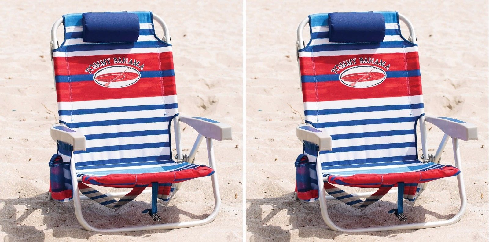 tommy bahama backpack cooler chair blue child rocking plans free 2 beach red stripe walmart com