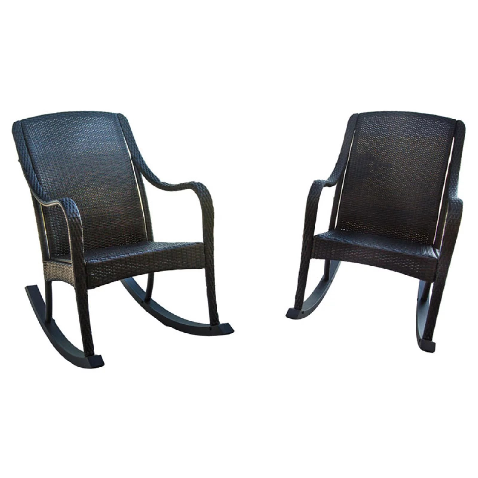 Wicker Rocking Chair Hanover Orleans All Weather Wicker Rocking Chairs Set Of 2
