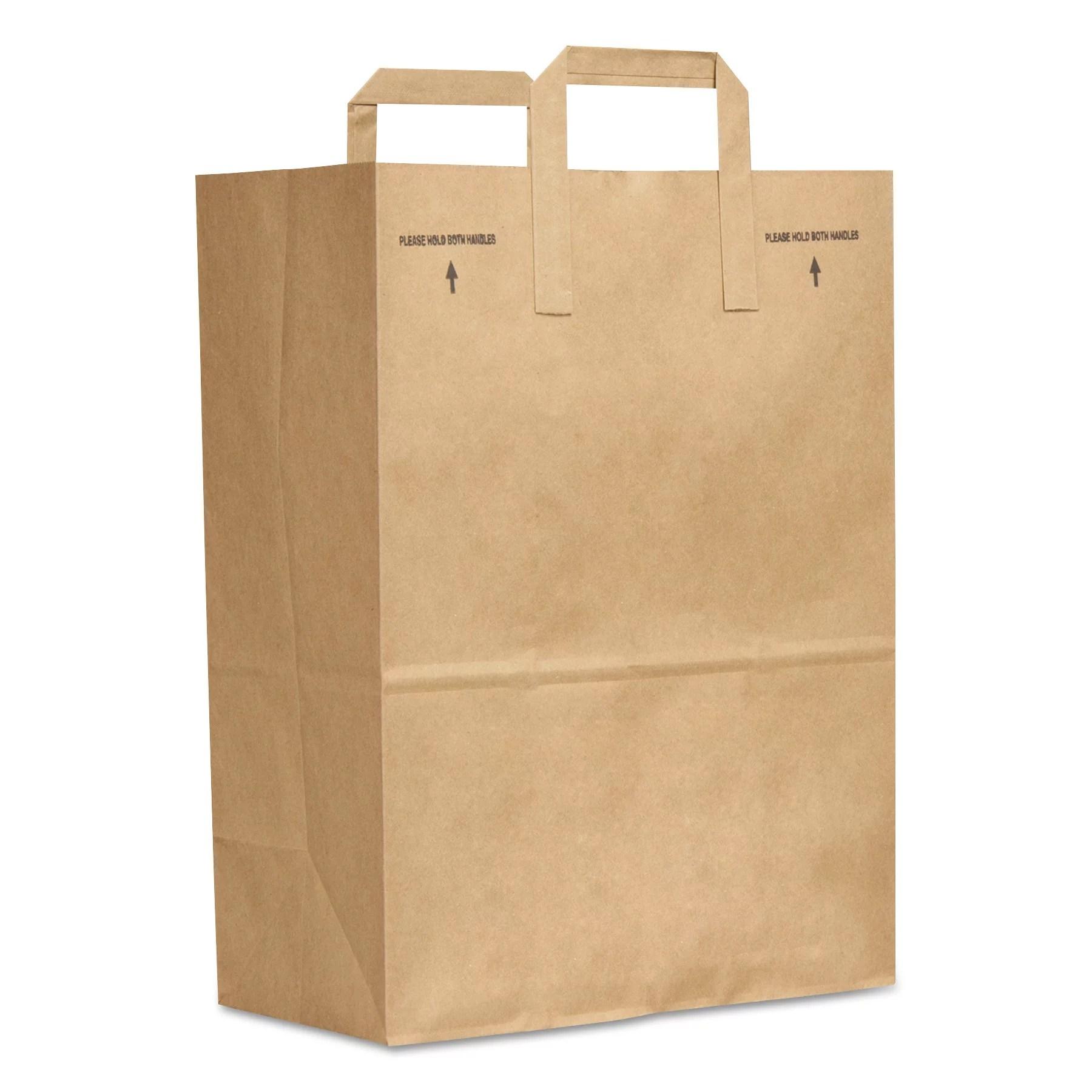 General 1 6 Bbl Paper Grocery Bag 70lb Kraft Standard 12