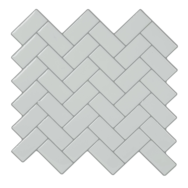 simplify peel stick wall tile 4 pack in chevron white
