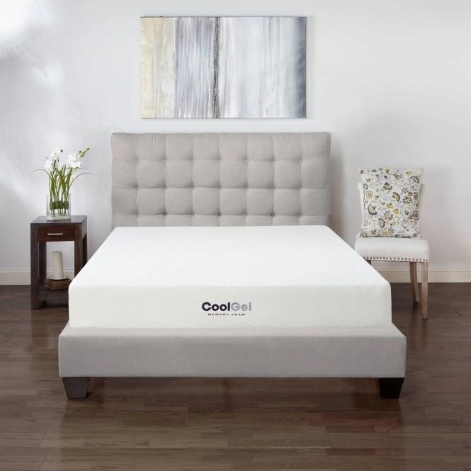 Postureloft 14 Inch King Size Gel Memory Foam Mattress With 2 Bonus Pillows