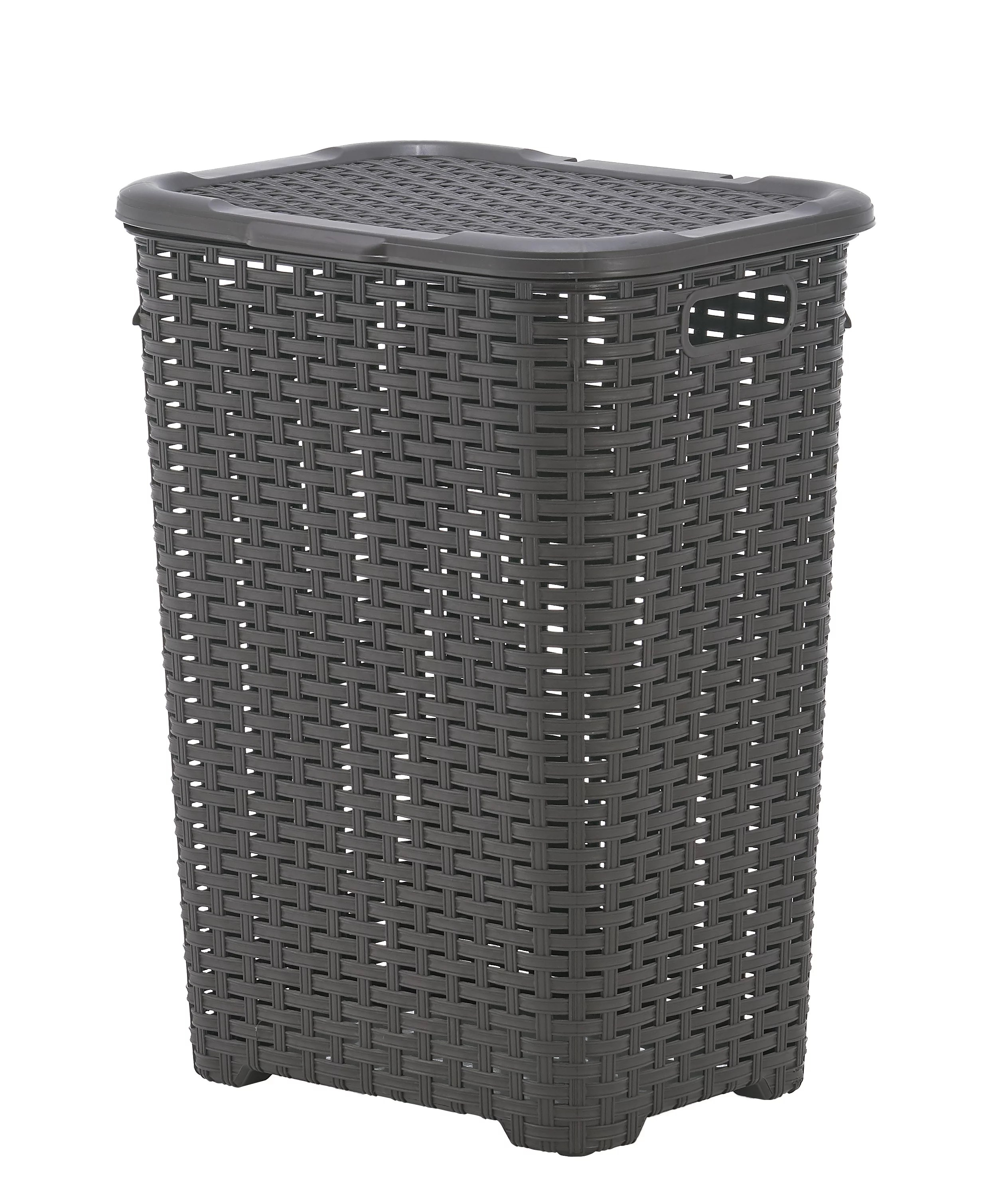 Laundry Basket Picture : laundry, basket, picture, Laundry, Basket,, Hamper, Large, 60-liter, Wicker, Style, Cutout, Handle,, Storage, Dirty, Clothes, Washroom,, Bathroom,, Bedroom,, Room,, Brown, Color., Superio, Walmart.com